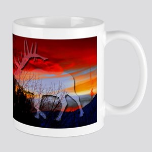 Elk sunset Mugs