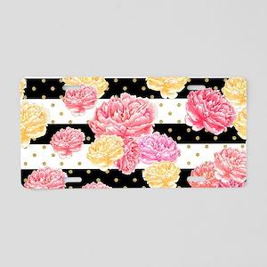 Watercolor Floral Aluminum License Plate