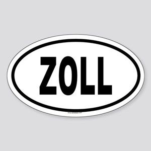 ZOLL Oval Sticker