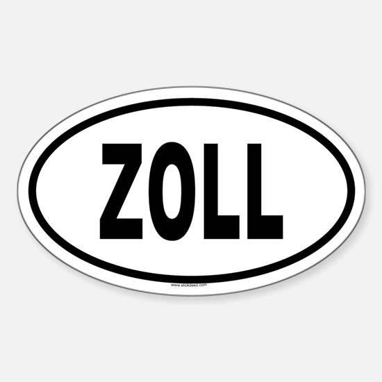 ZOLL Oval Decal