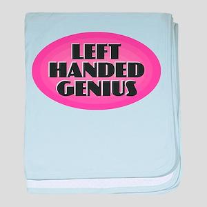 Left Handed Genius baby blanket