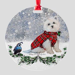 Westie Wonderland Ornament