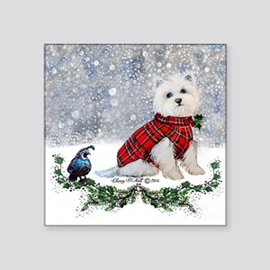 Westie Wonderland Sticker