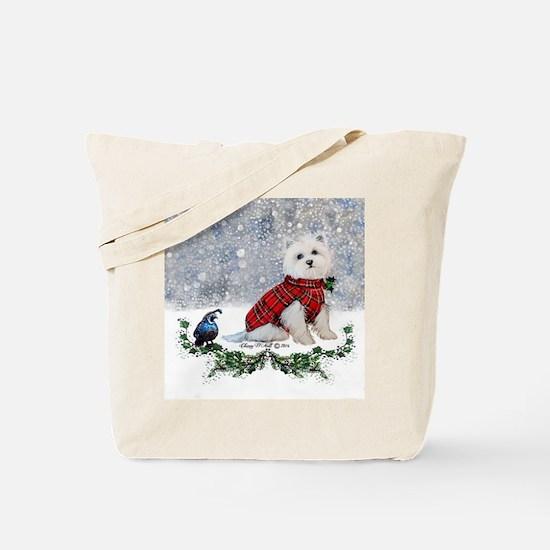 Westie Wonderland Tote Bag