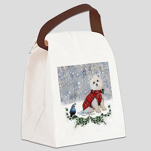 Westie Wonderland Canvas Lunch Bag