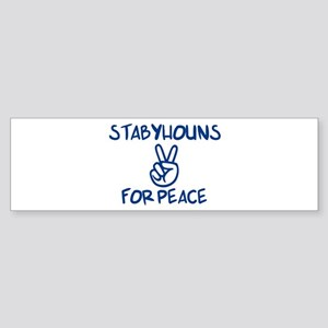 Stabyhouns for Peace Bumper Sticker