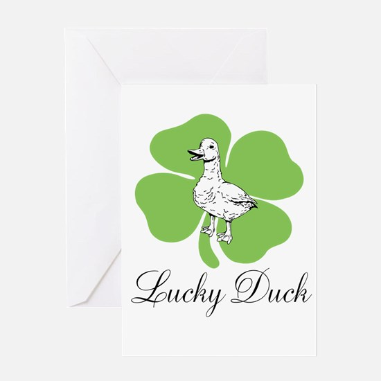 LUCKY DUCK Greeting Cards