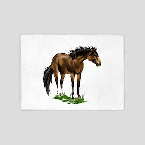 BUCKSKIN HORSE 5'x7'Area Rug