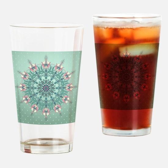 Vintage Floral Drinking Glass