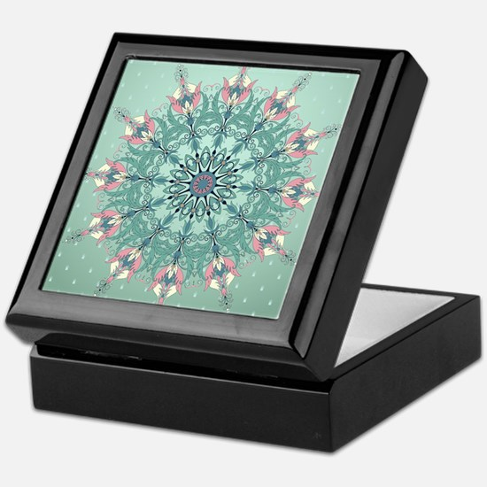 Vintage Floral Keepsake Box