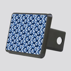 Blue Daisy Floral Pattern Hitch Cover