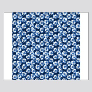 Blue Daisy Floral Pattern Posters