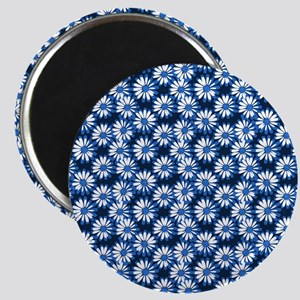Blue Daisy Floral Pattern Magnets