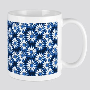 Blue Daisy Floral Pattern Mugs