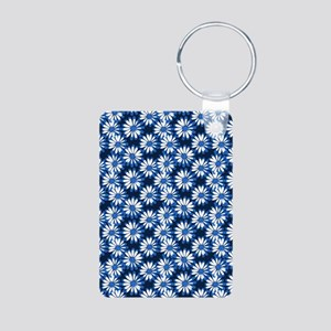 Blue Daisy Floral Pattern Keychains