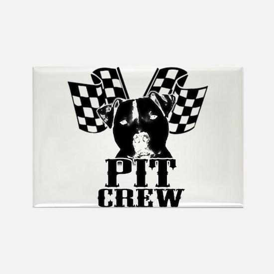 Pit Bull Pit Crew Rectangle Magnet