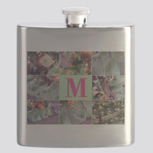 Monogram and Photo Block Flask
