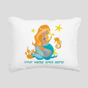 Blond Mermaid Rectangular Canvas Pillow