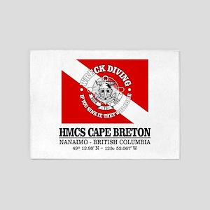 HMCS Cape Breton 5'x7'Area Rug