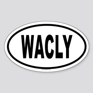 WACLY Oval Sticker