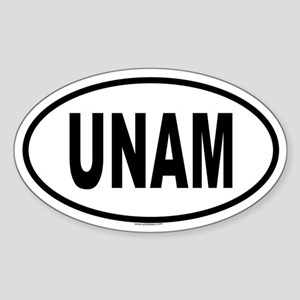 UNAM Oval Sticker
