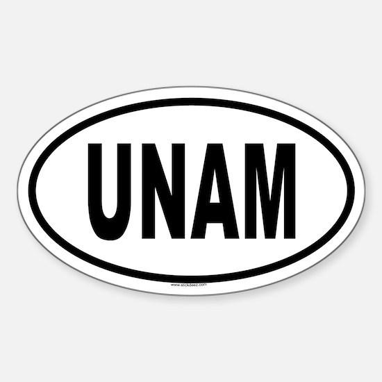 UNAM Oval Decal