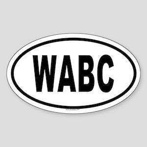 WABC Oval Sticker