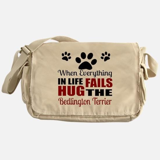 Hug The Bedlington Terrier Messenger Bag