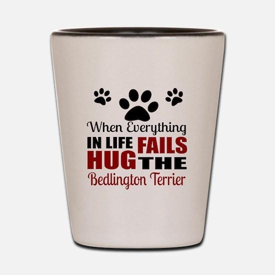Hug The Bedlington Terrier Shot Glass