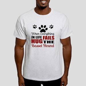 Hug The Basset Hound Light T-Shirt