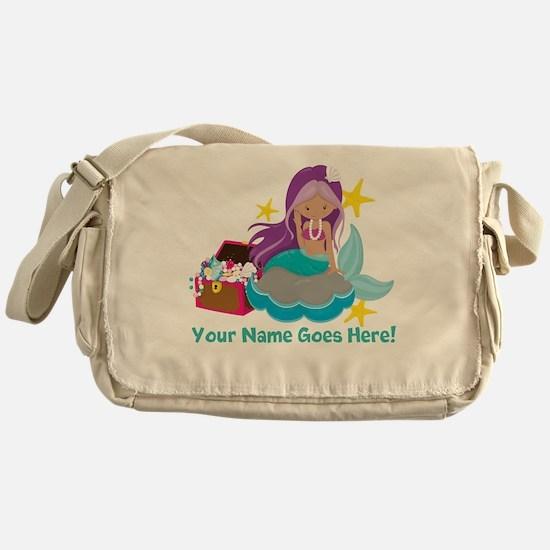 Purple Mermaid Messenger Bag