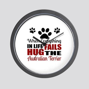 Hug The Australian Terrier Wall Clock