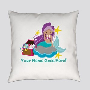 Purple Mermaid Everyday Pillow