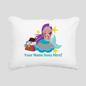 Purple Mermaid Rectangular Canvas Pillow