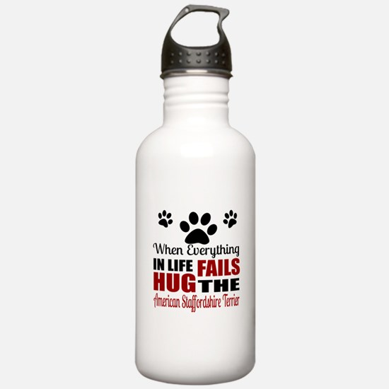 Hug The American Staff Water Bottle