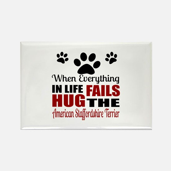 Hug The American Staff Rectangle Magnet (100 pack)