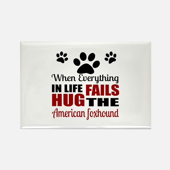 Hug The American Foxho Rectangle Magnet (100 pack)