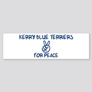 Kerry Blue Terriers for Peace Bumper Sticker