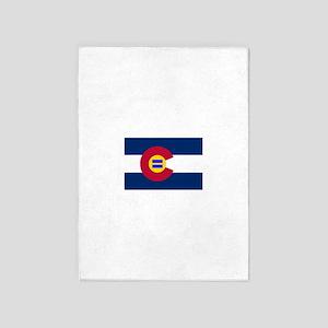 Colorado Flag Equal Rights 5'x7'Area Rug