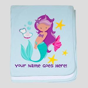 Purple Mermaid baby blanket