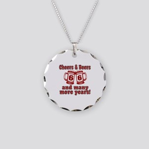 Cheers And Beers 66 And Many Necklace Circle Charm