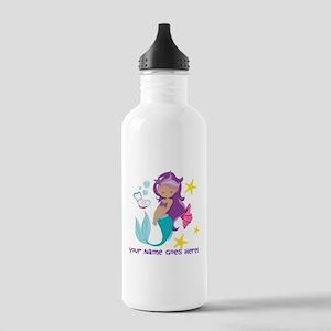 Purple Mermaid Water Bottle