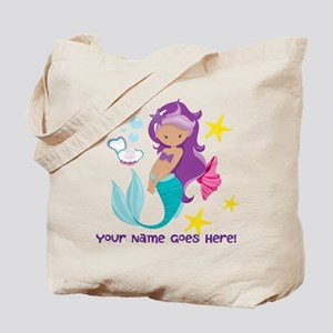 Purple Mermaid Tote Bag
