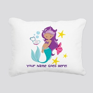 Purple Mermaid Rectangular Canvas Pillow