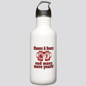 Cheers And Beers 67 An Stainless Water Bottle 1.0L