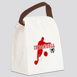 Indonesia Soccer Canvas Lunch Bag