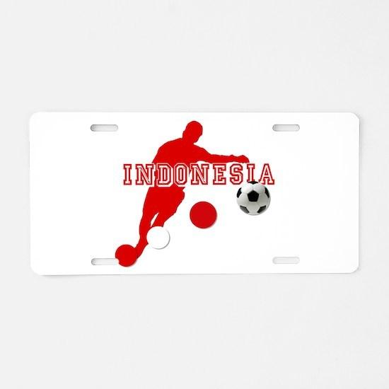 Indonesia Soccer Aluminum License Plate