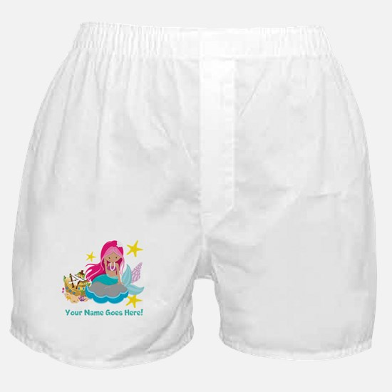 Pink Mermaid Boxer Shorts