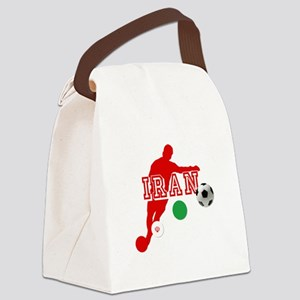 Iran Football Player Canvas Lunch Bag