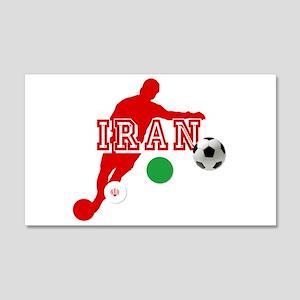 Iran Football Player 20x12 Wall Decal